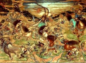 Yue Fei dans la bataille de Zhuxianzhen contre les Jin en 1140